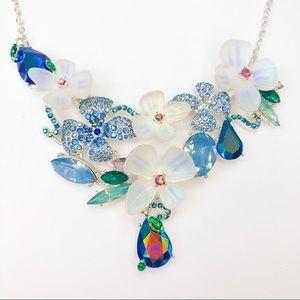 Betsey Johnson Floral Bib Necklace